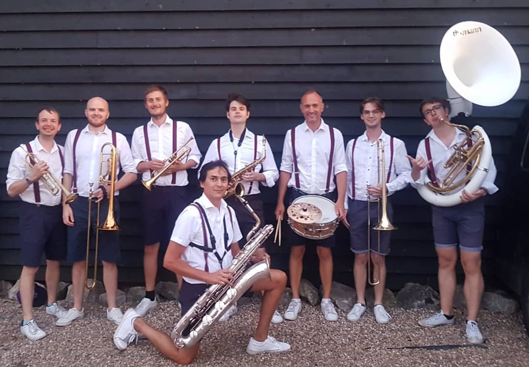 Roaming brass band for hire