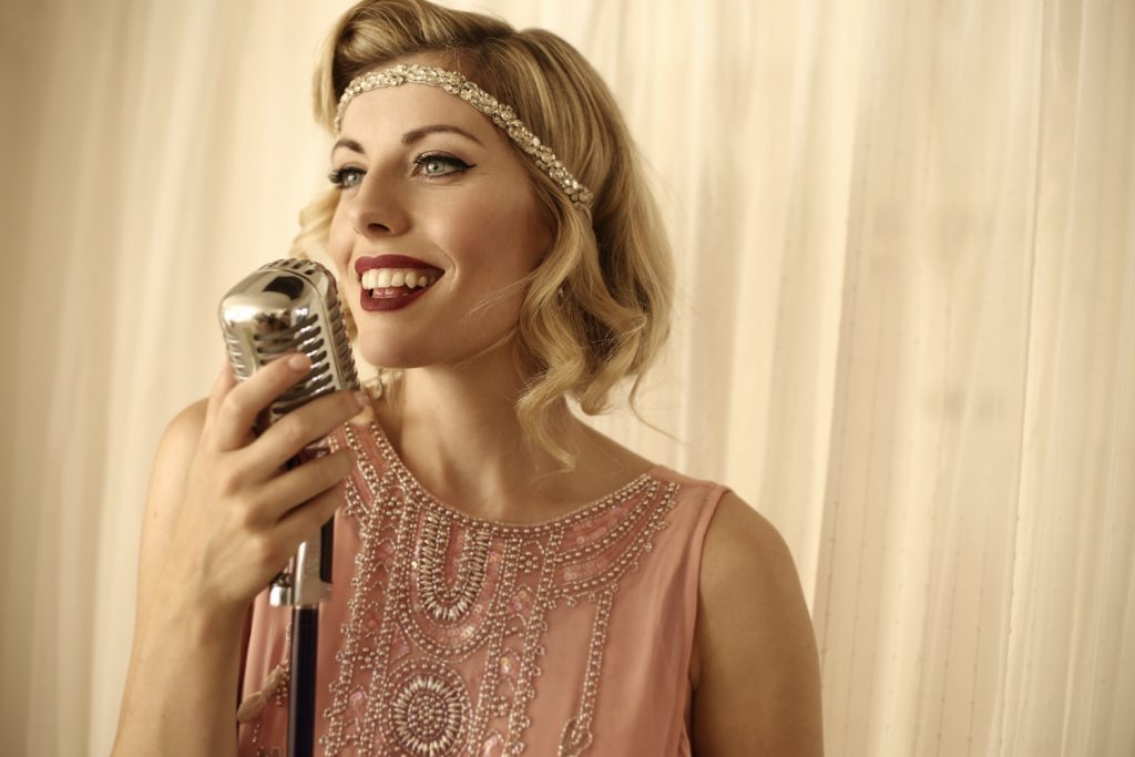 Vintage and jazz singer