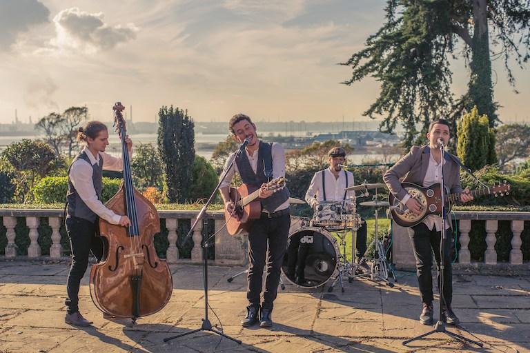Mumford style wedding band