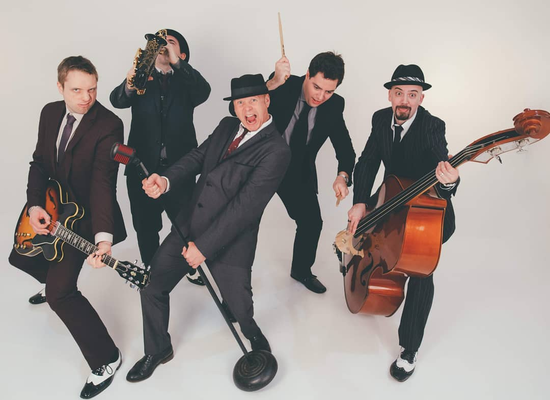 Vintage swing jive band